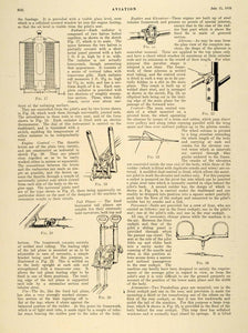 1918 Article A. E. G. Twin-Engined Bomber G 105 Biplane Parts Scale Drawings AV2