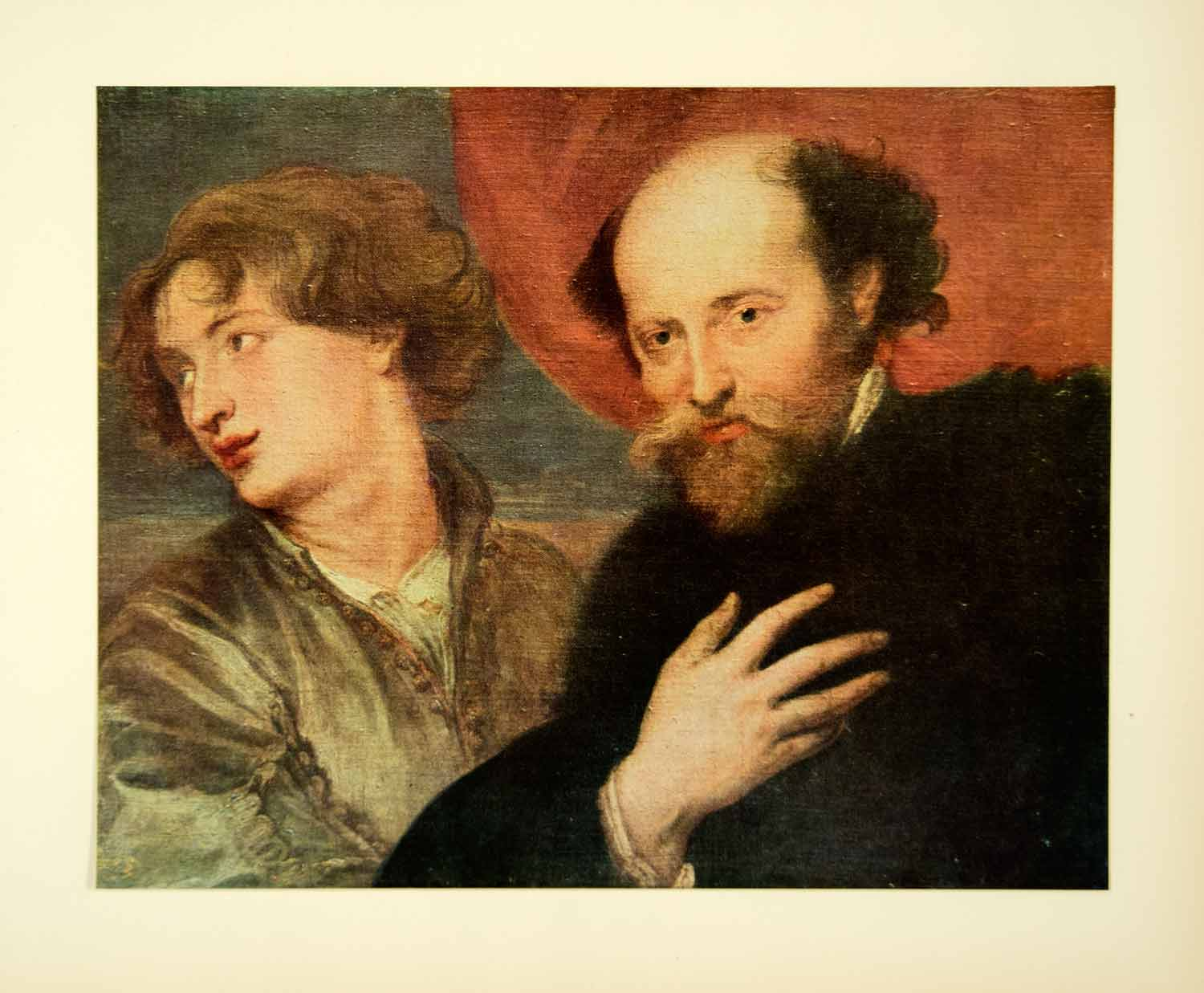 1949 Print Anthony Van Dyck Art Peter Paul Rubens Portrait Baroque Painters AVD1