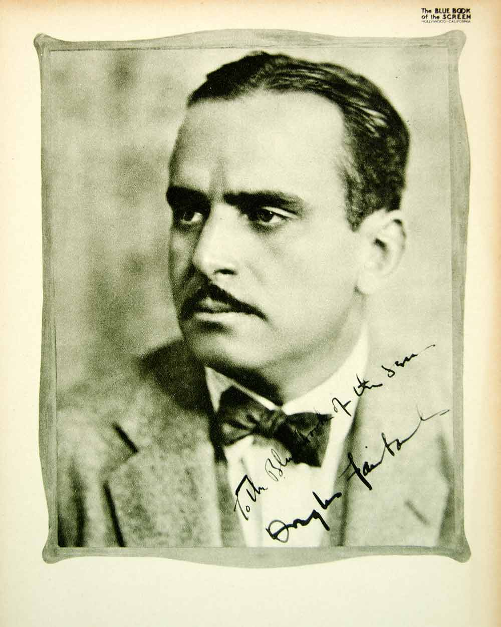 1923 Print Douglas Fairbanks Silent Film Actor Star Pickfair Home Biography BBS1