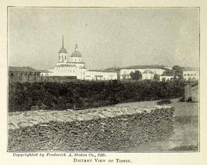 1900 Print Tomsk Russian City Siberia Architecture View Historical Image BVM1