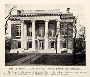 1907 Print Elizabeth Cary Agassiz House Radcliffe College President BVM2