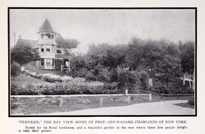 1911 Print Fernside Bay View Home Prof Charlouis New York Botanical Garden BVM2