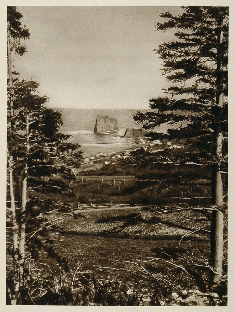 1926 L'lle Percee Perce Rock Village Quebec Canada - ORIGINAL CANADA