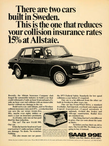 1971 Ad 1972 SAAB 99E Front-Wheel Drive Automobile - ORIGINAL ADVERTISING CARS7