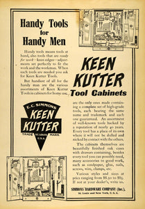 1907 Ad Keen Kutter Handy Man Tools Simmons Hardware - ORIGINAL ADVERTISING CG2