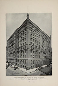 1902 Chicago Continental National Bank Building Print ORIGINAL HISTORIC IMAGE