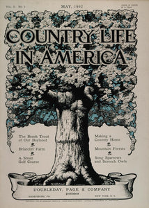 1902 Country Life in America COVER May Blooming Tree - ORIGINAL CL1