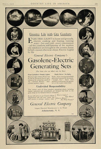 1910 Ad General Electric Gasoline Gasolene Generators - ORIGINAL ADVERTISING CL2