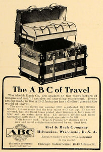 1907 Ad ABC Able Bach Travel Trunks Milwaukee Wisconsin - ORIGINAL CL4