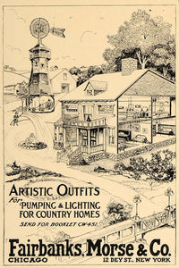 1907 Ad Fairbanks Morse Artistic Outfits Lighting Homes - ORIGINAL CL4