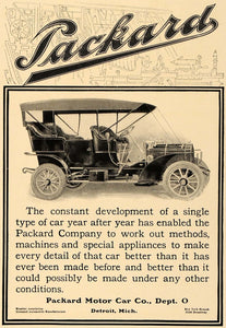 1906 Ad Antique Packard Motor Car Detroit Michigan - ORIGINAL ADVERTISING CL4