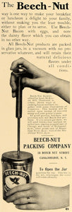 1906 Ad Beech-Nut Vacuum Glass Jars Puncture Top NY - ORIGINAL ADVERTISING CL4