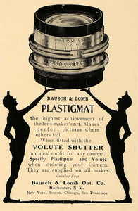 1905 Ad Bausch Lomb Plastigmat Volute Shutter Lens - ORIGINAL ADVERTISING CL4