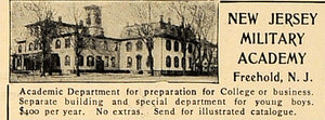 1905 Ad New Jersey Military Academy Freehold College - ORIGINAL ADVERTISING CL4