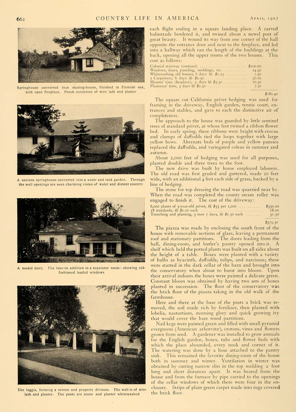 1907 Article Old Farmhouse Remodeled Harriet C. Bryant - ORIGINAL CL5