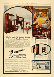 1913 Ad Brunswick Refrigerating Ice Making Plant Tennis - ORIGINAL CL6