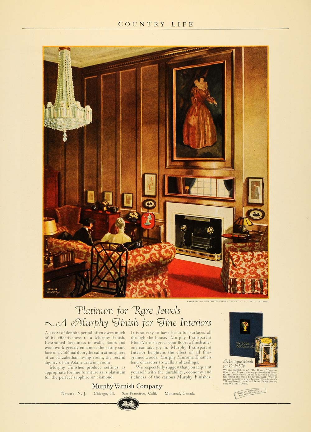 1924 Ad Murphy Varnish Interior Design Edward A Wilson - ORIGINAL CL6