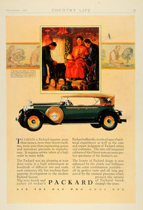g1927 Ad Green Packard Automobile Vintage K'ang-hi - ORIGINAL ADVERTISING CL6