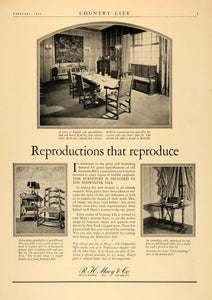 1925 Ad R.H. Macy Macy's Furniture Old English Table - ORIGINAL ADVERTISING CL6