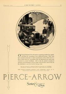 1925 Ad Pierce Arrow Series 80 Pricing Buffalo New York - ORIGINAL CL6