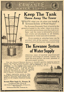 1909 Ad Kewanee Water Supply Company Illinois Home Tank - ORIGINAL CL7