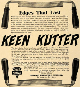 1906 Ad Simmons Hardware Keen Kutter Tools St. Louis - ORIGINAL ADVERTISING CL8
