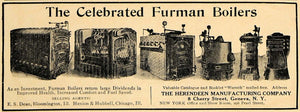 1907 Ad Furman Boilers Herendeen Company Henion Hubbell - ORIGINAL CL8