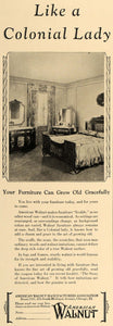 1927 Ad Colonial American Walnut Furniture Age Grace - ORIGINAL ADVERTISING CL8