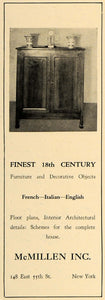 1928 Ad McMillen 18th Century Furniture French Italian - ORIGINAL CL8