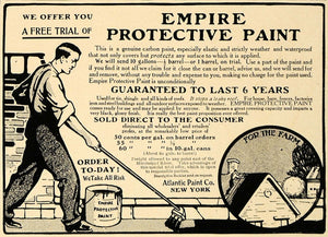 1906 Ad Atlantic Paint Empire Protective Coating Home - ORIGINAL ADVERTISING CL8