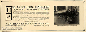 1906 Ad Northern Electrical Co. Laundry Mangle Madison - ORIGINAL CL9
