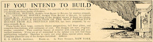 1906 Ad Build Colonial Houses E. S. Child Architect - ORIGINAL ADVERTISING CL9