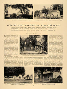 1907 Article Historic Country House Hunting Architecture Real Estate Realty CLA1