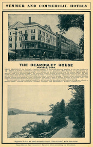 1904 Ad Beardsley House Winsted Ct Highland Lake Hotel Hostel Charles B CM1
