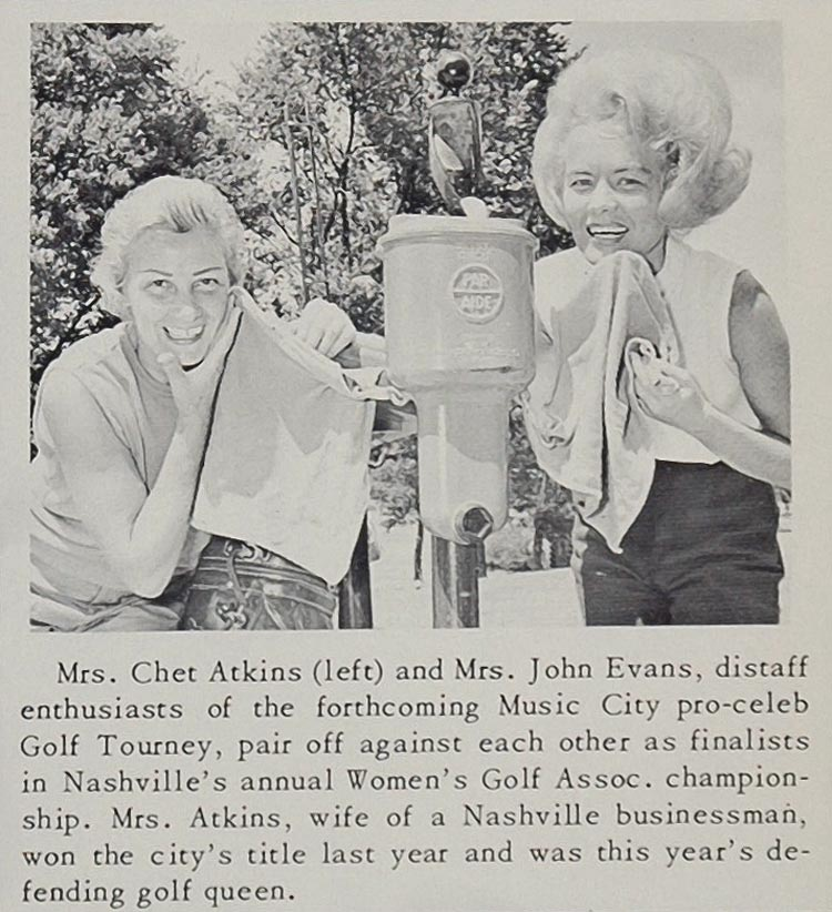 1966 Print Mrs. Chet Atkins Women's Golf Nashville - ORIGINAL HISTORIC IMAGE CML