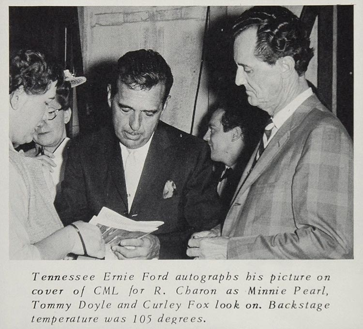 1966 Print Tennessee Ernie Ford Curly Fox Minnie Pearl ORIGINAL HISTORIC CML