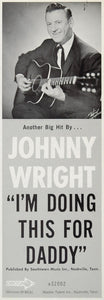 1966 Ad Johnny Wright Decca Records 32002 Country Music - ORIGINAL CML