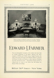 1930 Ad Edward I. Farmer Georgian Mahogany Furniture 18th Century COL2