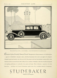 1930 Ad Antique Luxury Automobile Studebaker President Eight Victoria COL2