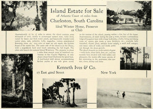 1930 Ad Kenneth Ives Island Real Estate Charleston South Carolina Realty COL2