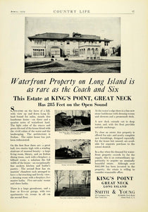 1929 Ad Smith Young Real Estate Kings Pointn Great Neck Long Island COL2