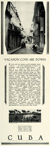 1931 Ad Havana Cuba Cuban Tourism Vacations Amenities Street View Cattle COL2