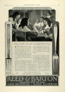 1927 Ad Reed Barton Sterling Silverware 17th Century France Fork Taunton COL3