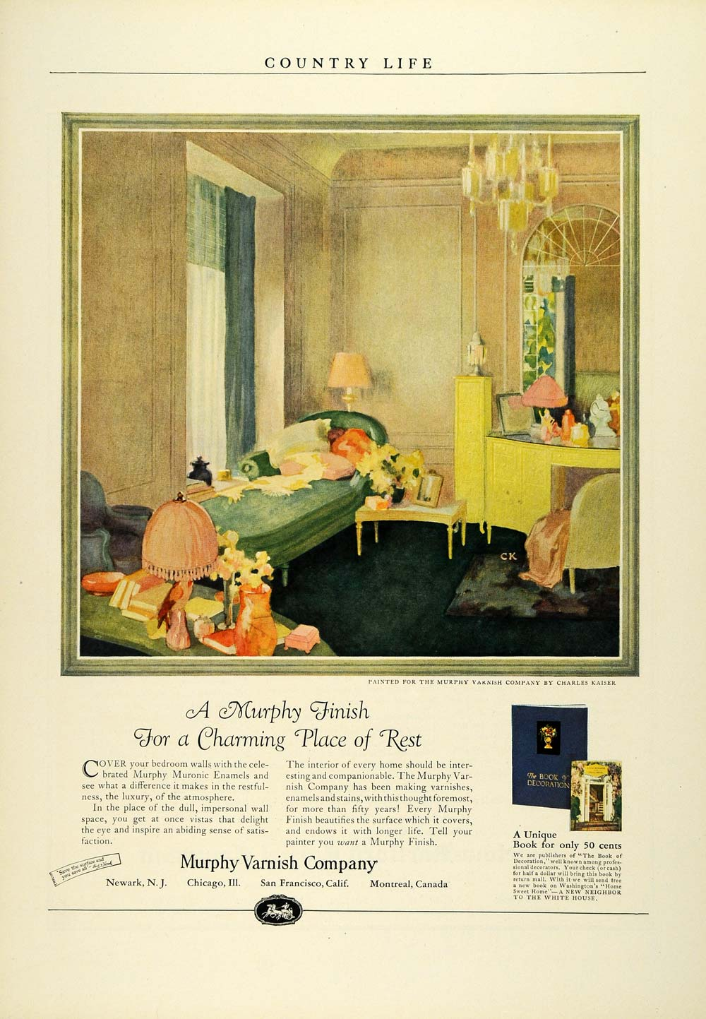 1924 Ad Murphy Muronic Enamels Varnish Finish Stains Home Improvement COL3