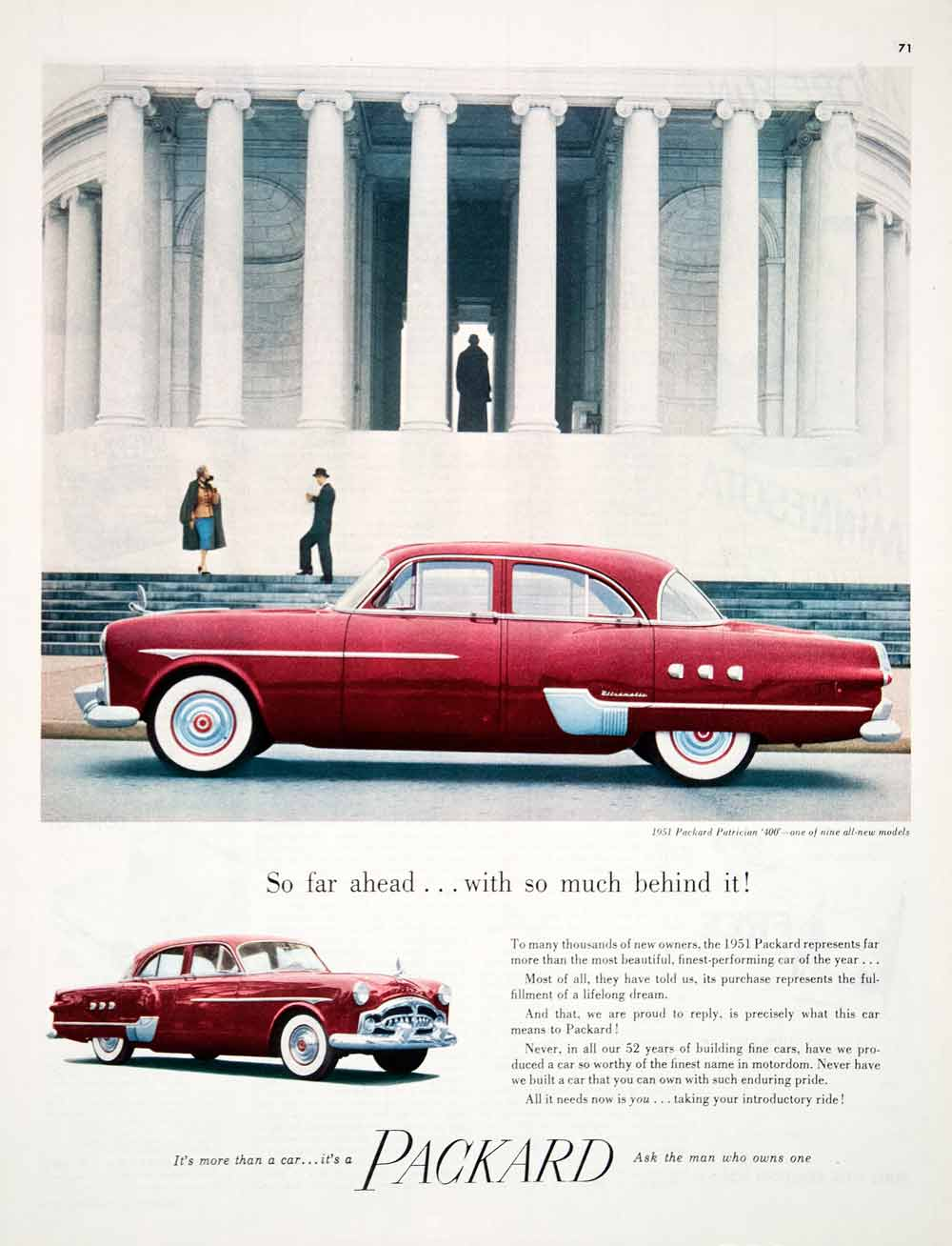 Vintage Advertising Art Tagged Cars Page 6 Period Paper Ignition Circuit Diagram For The 1951 54 Packard All Models Ad Patrician 400 Motor Car Detroit Jefferson Memorial Coll1