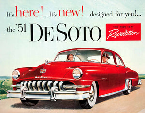 1951 Ad Hernando DeSoto Car Chrysler Corporation Red Custom United States COLL2