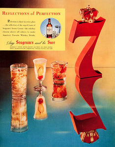 1951 Ad Seagrams Seven Crown Blended Whiskey Alcohol Drink Distillers New COLL2