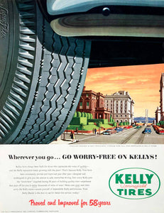 1952 Ad Kelly Springfield Tires Dealer Performance San Francisco Scene COLL3