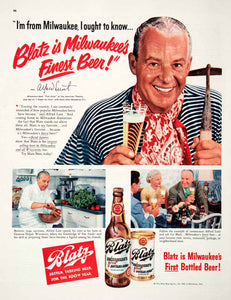 1951 Ad Blatz Beer Milwaukee Alfred Lunt American Theatre Star Genesee COLL3