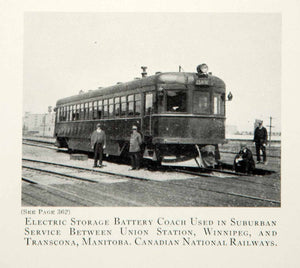 1933 Print Electric Battery Storage Coach Trains Canadian National Railway CRD1